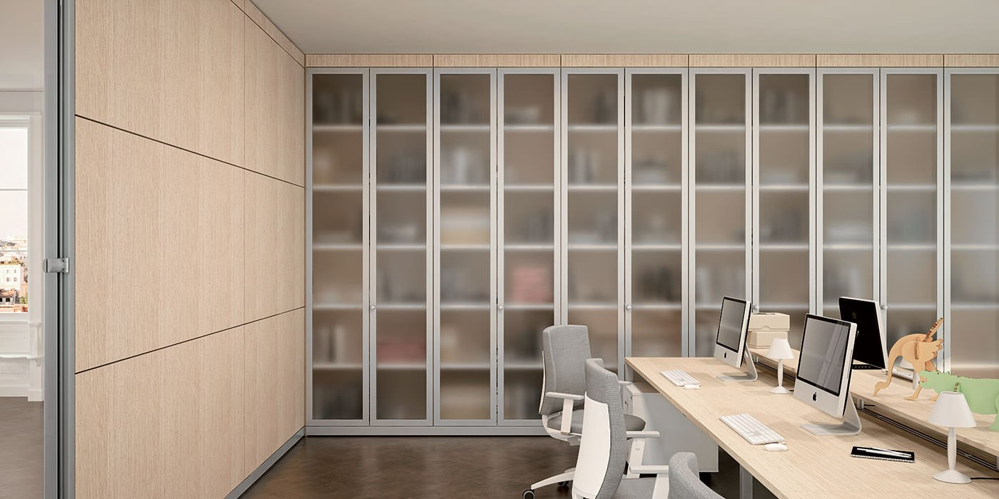 Pareti per ufficio pareti divisorie pareti attrezzate for Progetta i tuoi mobili per ufficio