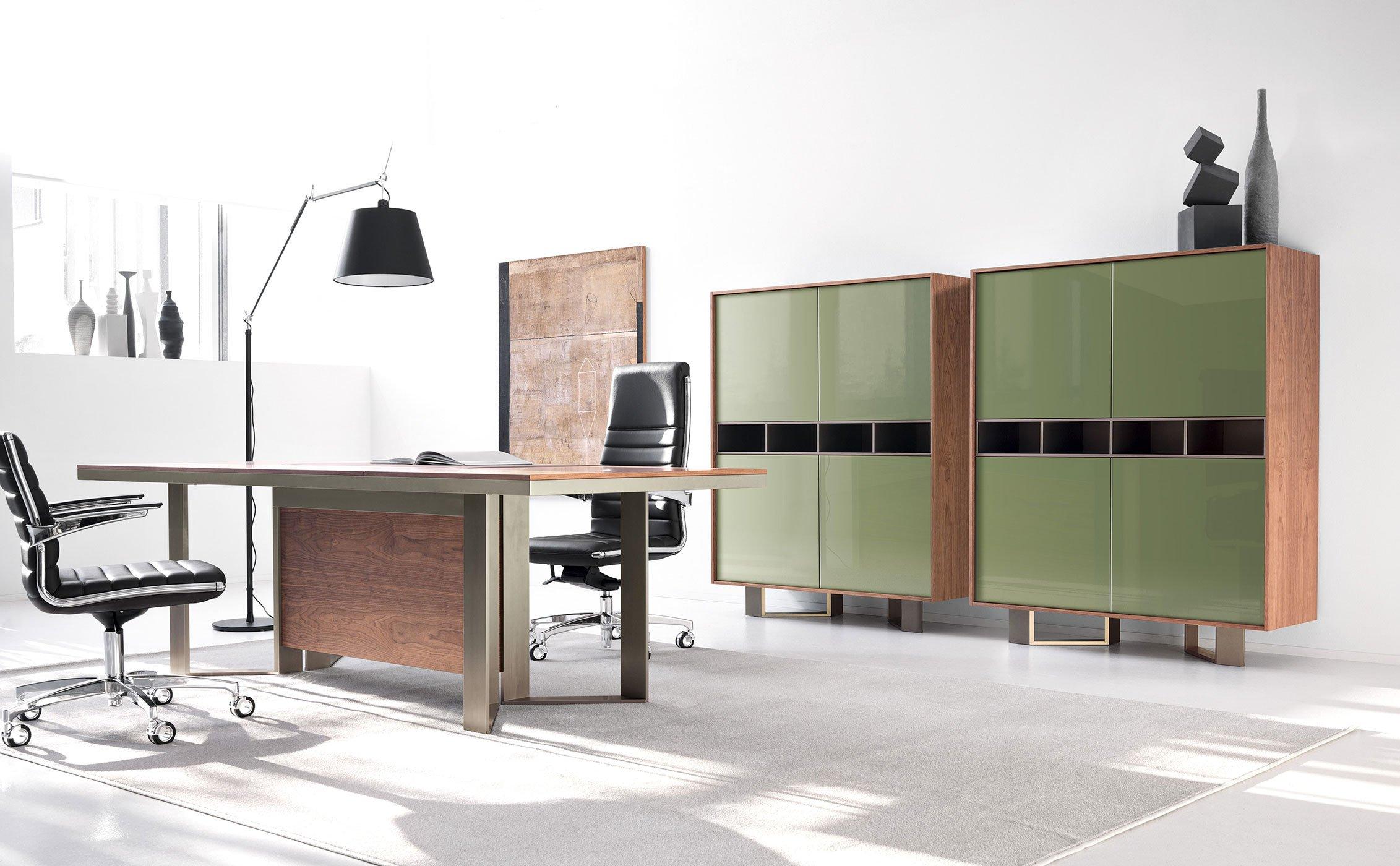 Scrivania Ufficio Bergamo : Scrivanie per ufficio vert arredamento per ufficio