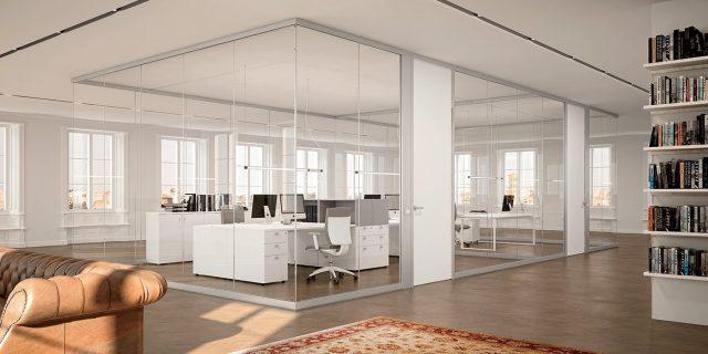 Pareti per ufficio pareti divisorie pareti attrezzate for Divisori mobili per ufficio