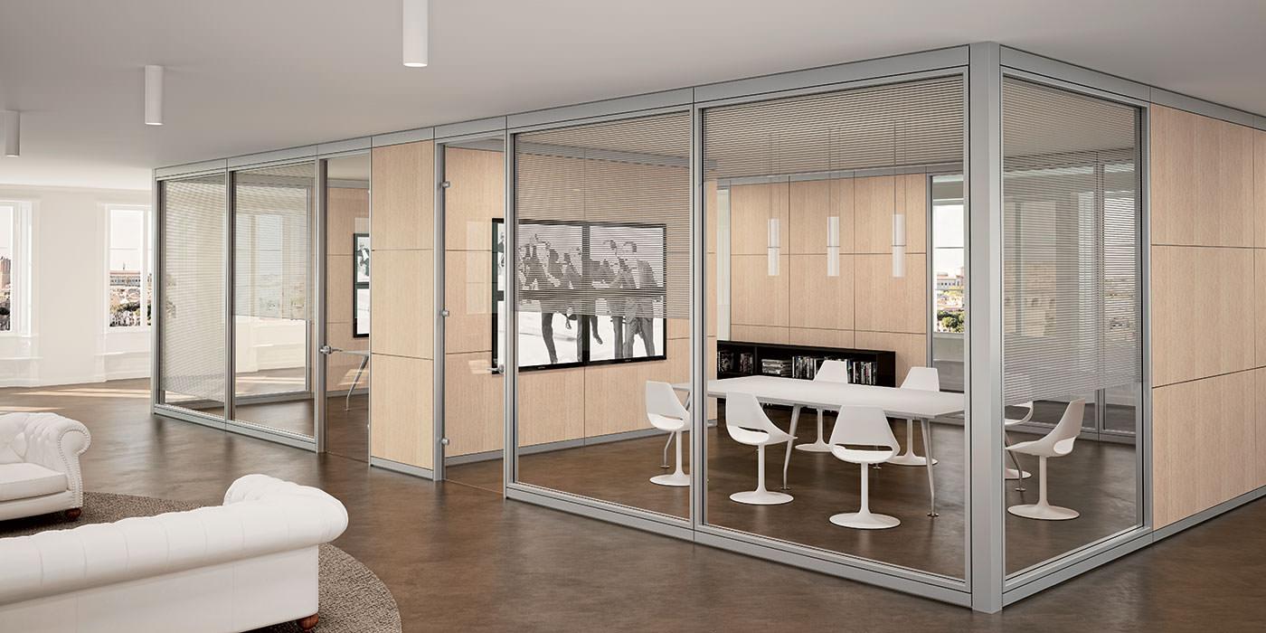 Tecna wall pareti divisorie e attrezzate per ufficio for Pareti divisorie mobili per interni