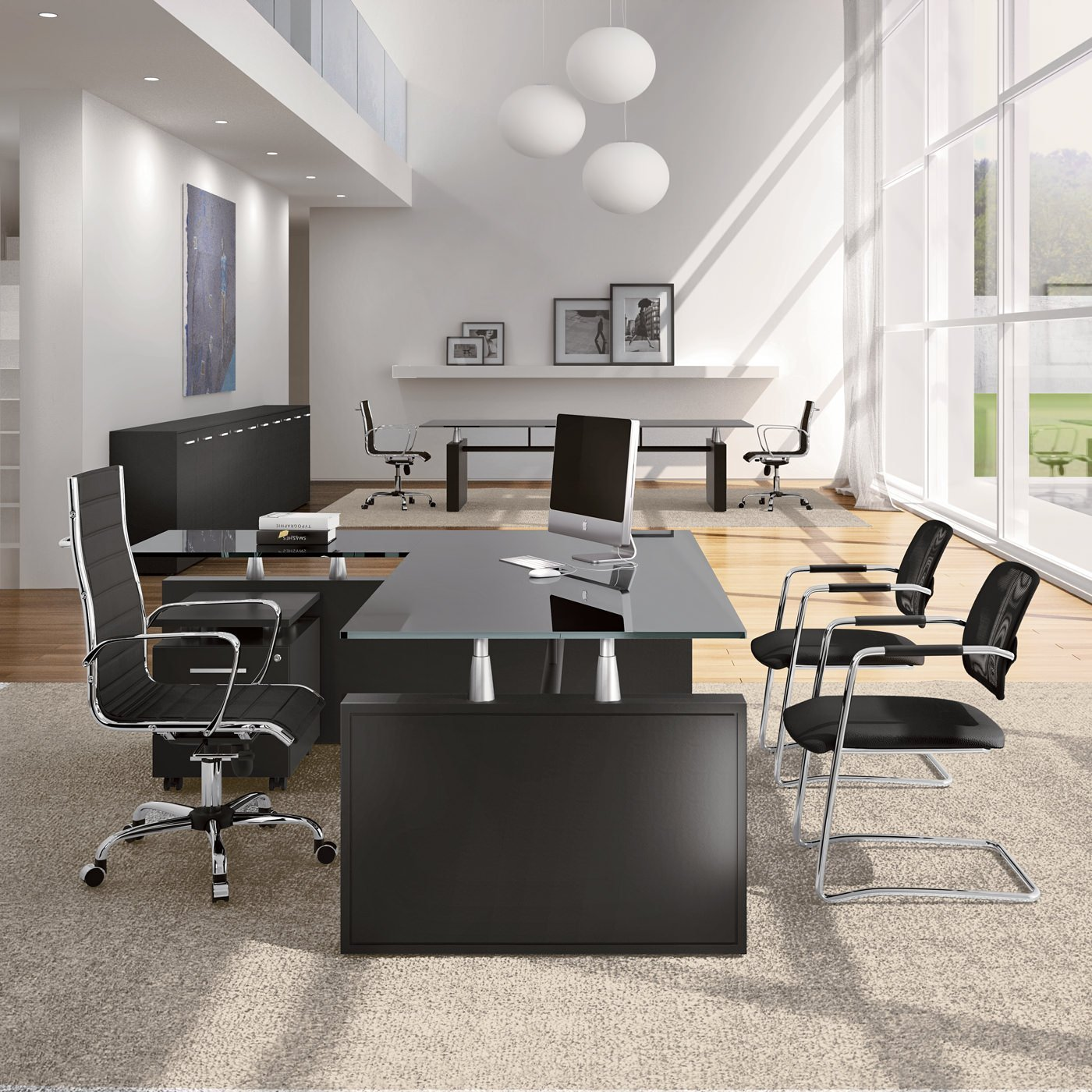 York mobili direzionali arredamento uffici for Mobili ufficio scrivania
