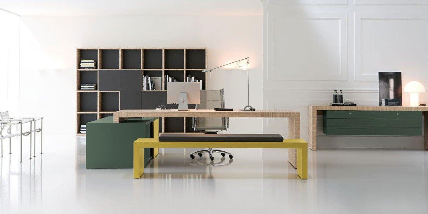 Scrivanie per ufficio linea jon mobili per ufficio for Arredamento uffici napoli