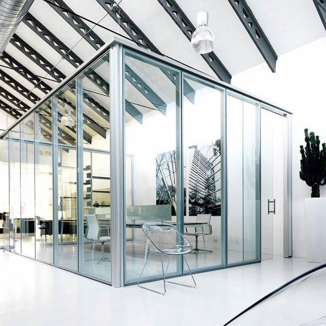 pareti per ufficio su misura